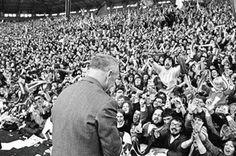 Bill Shankly and his adoring Kop