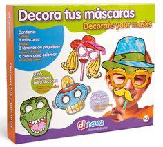 Manualidades - Juegos educativos - Juegos Dinova - Decora tus máscaras