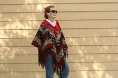 Easy Granny Square-style Poncho