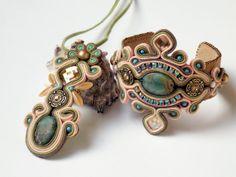 Soutache jewelry set.Handmade jewelry Soutache par beadsbyPanka, Ft41000.00