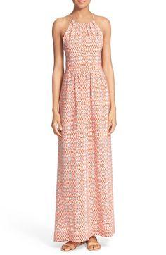 JOIE 'Agua' Print Silk Maxi Dress. #joie #cloth #