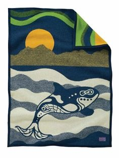 Sea Wolf Crib Blanket