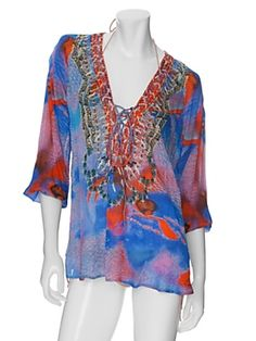 Camilla EXCLUSIVE Bejeweled Lace Up Blouse