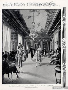 Sonia Delaunay 1925 Exposition arts decoratifs Drecoll (back) — original fashion print