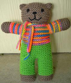 Mother Bear/ knitting w/o needing to sew seams