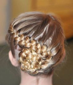 Gymnastics hair and makeup? Dance Hairstyles, Workout Hairstyles, Little Girl Hairstyles, Braided Hairstyles, Cool Hairstyles, Gymnastics Hairstyles, Braided Ponytail, Updo Hairstyle, Wedding Hairstyles