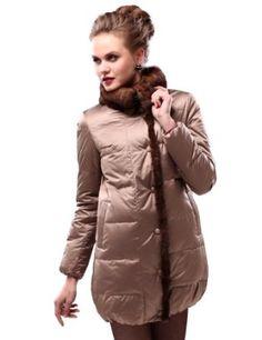 Bengen Winter Fashion Women's Casual Middle Length Shiny Down ...