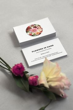 #Floral branding   Flowers in Hand by Oh Babushka, via Behance