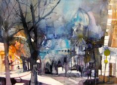 Cityscapes - Elke Memmler - http://www.elke-memmler.de/bildergalerie/aquarelle/stadtansichten/