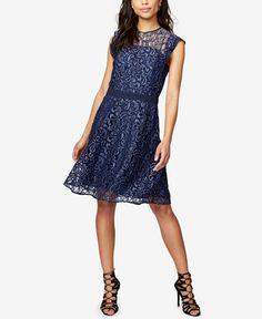 ea8e3071a RACHEL Rachel Roy Lace Fit & Flare Dress & Reviews - Dresses - Women -  Macy's