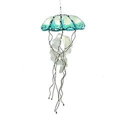 Jellyfish Fused Glass Suncatcher