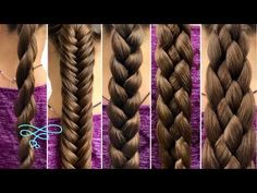 """5 Basic Braids In the spirit of new beginnings, we thought that we would start the year off with a """"Back to Basics"""" tutorial. So this tutorial is going to cover five of the most basic braids that you can … Braiding Your Own Hair, Braids For Short Hair, Hair Braiding Tutorial, How To Braid Hair, Braid Hair Tutorials, Hair Tutorial Videos, Braids Easy, Braids Cornrows, Big Braids"""