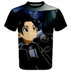 Sword Art Online, Shirt, Anime, Kirito, Manga, T-Shirt,