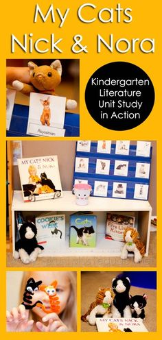 My Cats Nick and Nora #Kindergarten Literature Unit in Action from @1plus1plus1