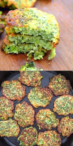 recipes videos These light, golden-brown Broccoli Fritters make a delicious vegetarian dinner or lunch and kids love them, too! Ready in less than 30 minutes. Cooktoria for more deliciousness! Tasty Vegetarian Recipes, Healthy Breakfast Recipes, Healthy Snacks, Healthy Recipes, Vegan Vegetarian, Yummy Healthy Food, Healthy Lunch Ideas, Vegan Eggplant Recipes, Healthy Finger Foods
