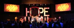 Thorns and Hope | Church Stage Design Ideas - could use our crown of thorns