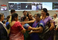 "I love that this New York Times picture of women in traditional saris carries the caption, ""Scientists and engineers at the Indian Space Research Organization command center celebrated after the Mangalyaan spacecraft entered Mars orbit.""  Such a reminder of the fact that women's intellectual power, when harnessed, can be wildly transformative. It brings such a smile to my face to see their joy at their hard-won achievement for space exploration."