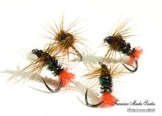 Montajes para la Trucha – Pescando a Mosca Fishing Lures, Fly Fishing, Fly Tying, Worms, Streamers, Flowers, Plants, Red, Patterns
