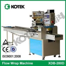 250 Automatic Pillow Pack Bagels Wrapper Horizontal Flow Flatbread Packing Equipment Rice Cracker Packaging Machine For Cake