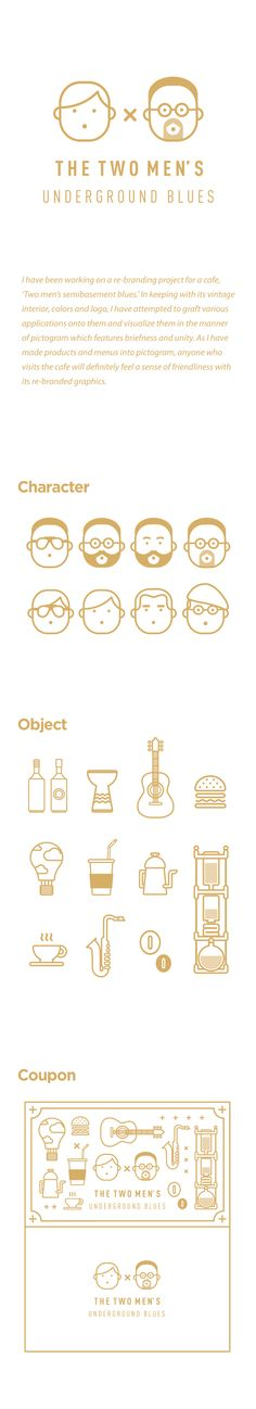 Two men's Cafe Rebranding project by Jahng Hyoung joon, via Behance