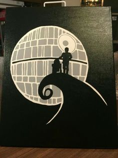 I painted on 1620 canvas - Baby Star Wars - Ideas of Baby Star Wars - Star Wars Nightmare. I painted on 1620 canvas Star Wars Crafts, Star Wars Decor, Star Wars Fan Art, Gouache Painting, Painting & Drawing, Star Wars Nursery, Star Wars Painting, Disney Paintings, Art Paintings