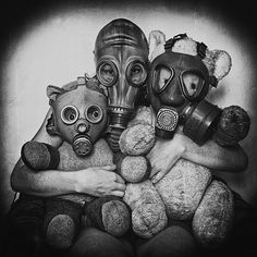 friends, gas mask