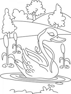 Lonely duck coloring pages | Download Free Lonely duck coloring pages for kids | Best Coloring Pages