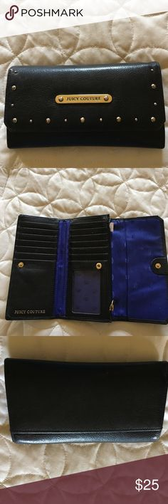 Juicy couture black wallet Gorgeous black leather. Excellent condition. No scratches,scuffs or worn corners. Many compartments. Juicy Couture Bags Wallets