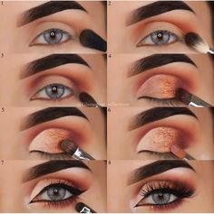 Helpful Eye-makeup looks Urban Decay Makeup, Urban Decay Naked Heat, Heat Palette Urban Decay, Makeup Goals, Makeup Tips, Beauty Makeup, Makeup Ideas, Eye Makeup Steps, Smokey Eye Makeup