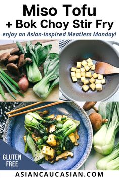 This light and flavorful Miso Tofu and Bok Choy Stir Fry is made with a rich miso sauce, woodsy shiitake mushrooms, crispy pan-fried tofu, and vibrant baby bok choy. This quick and easy Asian dinner recipe packs a big umami flavor. It's a healthy and hearty Asian-inspired dish that's gluten free, vegetarian, vegan, and perfect for Meatless Monday! Asian Dinner Recipes, Asian Recipes, Bok Choy Stir Fry, Stir Fry Recipes, Meatless Monday, Tofu, Mushrooms, Vegetarian Recipes, Easy Meals