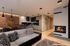 Dom w Rudzie Śląskiej - Realizacja - Salon, styl nowoczesny - zdjęcie od Conceptgroup