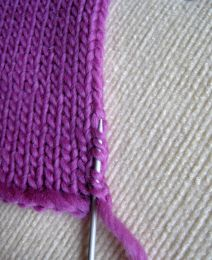 picking up stitches There are several ways to pick-up stitches. This is the version I use along a stockinette stitch (St st) edge as for a c...