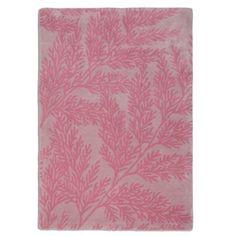 Debenhams Pink wool 'Leaf' rug- at Debenhams.com