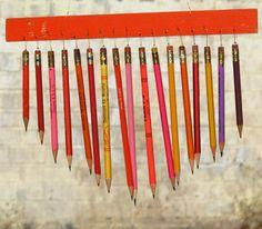 carillon à vent avec des crayons