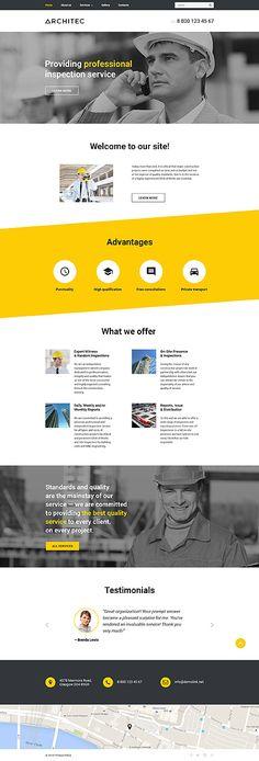 Template 57730 - Architec Architecture  Responsive Website Template