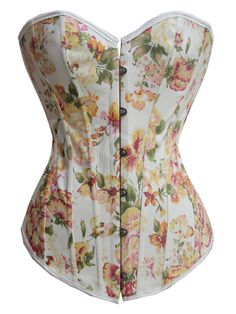 Amazing Yellow Floral Corset Floral Fantasy Burlesque Corset with front busk closure, lace-up back. Features: Polyester Floral print design Busk closure front, lace-up back Tops Top Bustier, Corset Bustier, Burlesque Corset, Strapless Corset, Sexy Corset, Corset Tops, Bustiers, Corset Overbust, Corset Vintage