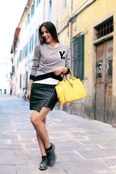Irene's closet outfit of today   voile blanche shoes   Ysl yelow bag  www.ireneccloset.com