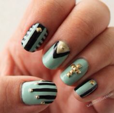 Pretty studded nails