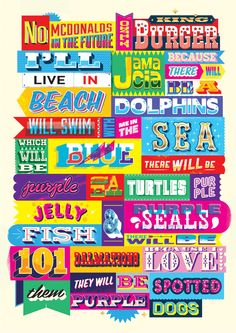 see- illustrators can be brilliant typographers too! Ross Crawford represented by CIA