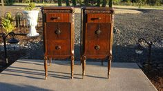Reserved For Rand* Charming ! Shabby Cottage Chic Nightstands / One Pair / Made…