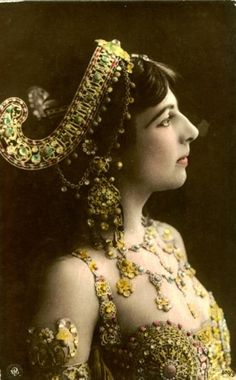 Mata Hari in costume designed by Erte, who also designed for Ballet Russe