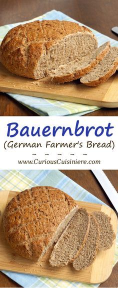 If you love hearty rye bread Bauernbrot is for you! This German farmers bread If you love hearty rye bread Bauernbrot is for you! This German farmers bread brings authentic flavor and texture together in one easy to make loaf. German Bread, German Baking, German Rye Bread Recipe, Rye Bread Recipes, Farmers Bread Recipe, Our Daily Bread, Le Diner, Artisan Bread, Bread Baking