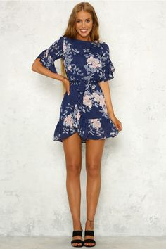 Mean Streets Dress Navy
