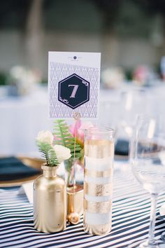 Gorgeous and fun retro pink and gold wedding decor