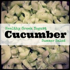 Healthy Greek Yogurt Cucumber Salad Recipe a