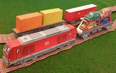 PAPERMAU: Easy-To-Build Freight Train Paper Model For Kids - by Olis Bahnwelt
