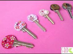 3 Modi per decorare le chiavi - 3 Methods for keys decor  By Sweet Bio Design