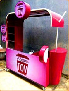 Juice Bar Design, Food Cart Design, Bike Food, Food Kiosk, Container Cafe, Cosmetic Display, Pos Display, Kiosk Design, Nasi Goreng