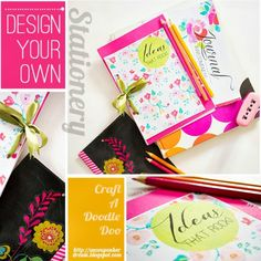 Tutorial - DESIGN YOUR OWN STATIONERY at Craft a Doodle Doo