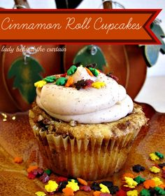 Cinnamon Roll Cupcakes - Lady Behind The Curtain